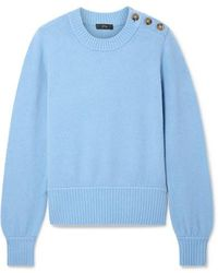 J.Crew - Button-detailed Knitted Sweater - Lyst