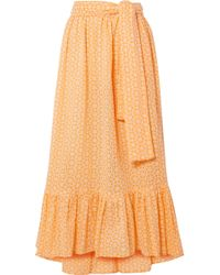 Lisa Marie Fernandez - Nicole Broderie Anglaise Cotton Maxi Skirt - Lyst