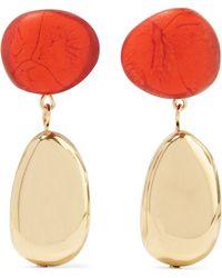 Dinosaur Designs - Gold-tone Resin Earrings - Lyst