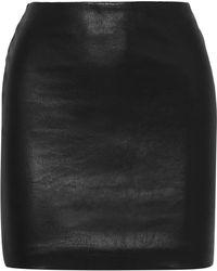 The Row - Loattan Stretch-leather Mini Skirt - Lyst