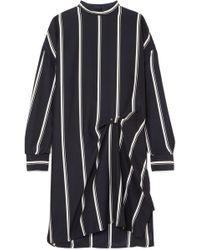 Rag & Bone - Jacklin Gathered Striped Silk Mini Dress - Lyst