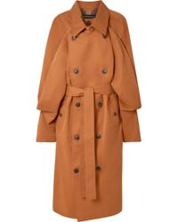 Y. Project - Oversized Layered Gabardine Trench Coat - Lyst