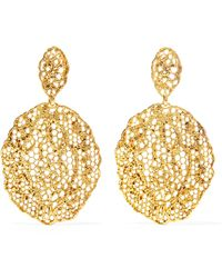 Aurelie Bidermann - 'vintage Lace' Earrings - Lyst