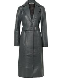 Elizabeth and James - Reese Belted Leather Trench Coat - Lyst