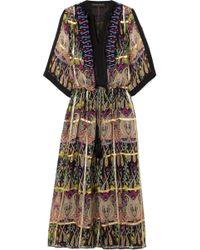 Etro - Embellished Metallic Printed Silk-blend Jacquard Maxi Dress - Lyst
