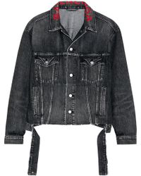 a269fd4390c695 Balenciaga - Oversized Embroidered Denim Jacket - Lyst