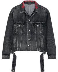 Balenciaga - Veste Oversize En Jean à Broderies - Lyst