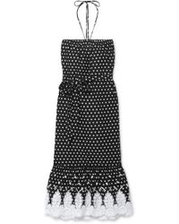 Miguelina - Emery Crocheted Polka-dot Cotton-voile Midi Dress - Lyst