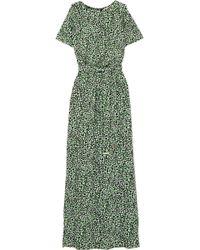 MICHAEL Michael Kors - Cold-shoulder Printed Satin-jersey Maxi Dress - Lyst