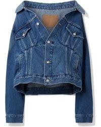 Balenciaga - Oversized Denim Jacket - Lyst