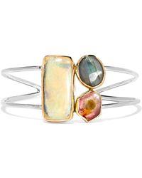 Melissa Joy Manning - 14-karat Gold And Sterling Silver Multi-stone Cuff - Lyst