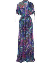 Matthew Williamson - Kantuna Valley Printed Silk-chiffon Jumpsuit - Lyst