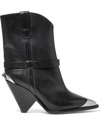 Isabel Marant - Lamsy Embellished Leather Ankle Boots - Lyst