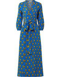 Rhode Resort - Jagger Printed Silk Crepe De Chine Wrap Dress - Lyst