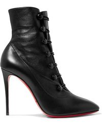 Christian Louboutin - French Tutu 100 Ankle Boots Aus Leder - Lyst