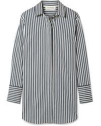 By Malene Birger - Isadora Oversized Striped Cotton-blend Shirt - Lyst