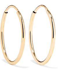 Loren Stewart - Infinity 10-karat Gold Hoop Earrings - Lyst