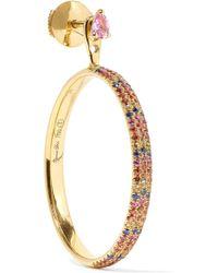 Yvonne Léon - 18-karat Gold Sapphire Earring Gold One Size - Lyst
