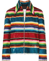 Ashish - Striped Sequined Cotton Jacket - Lyst