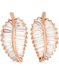 Anita Ko - Palm Leaf Ohrringe Aus 18 Karat Roségold Mit Diamanten - Lyst