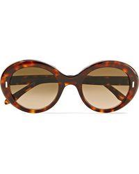 Cutler & Gross - Sonnenbrille Mit Rundem Rahmen Aus Azetat In Hornoptik - Lyst