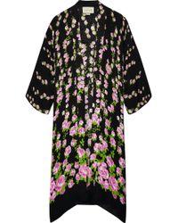 Gucci | Floral-jacquard Robe | Lyst