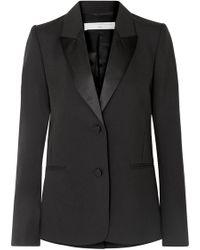Victoria Beckham - Satin-trimmed Wool And Mohair-blend Blazer - Lyst