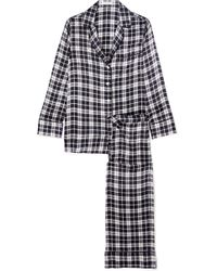 ac71a7d0f1 Equipment Theron Washed-silk Pajama Set in Black - Lyst