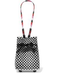 Truss - Party Mini Woven Raffia-effect Wristlet Bag - Lyst