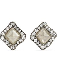Kimberly Mcdonald - 18-karat Blackened White Gold Diamond Earrings White Gold One Size - Lyst