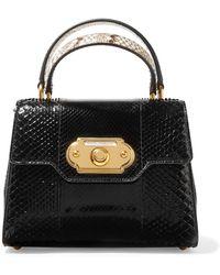 Dolce & Gabbana - Sac à Main En Cuir Welcome Medium - Noir nAMo6UfQ