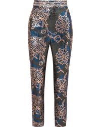 Peter Pilotto - Metallic Jacquard Tapered Trousers - Lyst