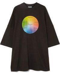 Balenciaga - Bedrucktes T-shirt Aus Baumwoll-jersey In Oversized-passform - Lyst