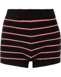 Sonia Rykiel - Striped Cotton-blend Shorts - Lyst