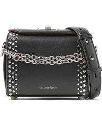 Alexander McQueen - Box Bag 19 Studded Leather Shoulder Bag - Lyst
