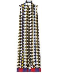 Akris - Printed Silk-crepe Midi Dress - Lyst