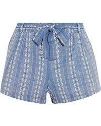 Splendid - Cotton-jacquard Shorts - Lyst