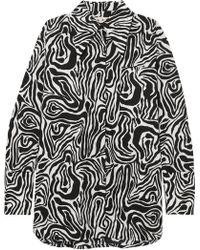 Marni - Oversized Zebra-print Cotton-poplin Shirt - Lyst