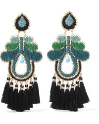 Mercedes Salazar | Curubas Tasseled Gold-tone Bead Clip Earrings | Lyst