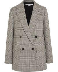 Stella McCartney - Milly Prince Of Wales Checked Wool-blend Blazer - Lyst
