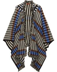 Missoni - Fringed Crochet-knit Wool-blend Poncho - Lyst