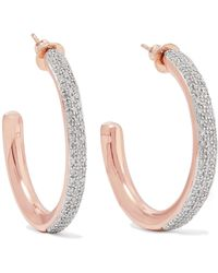 Monica Vinader - Fiji Rose Gold Vermeil Diamond Hoop Earrings - Lyst