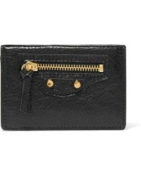 Balenciaga - Classic City Mini Textured-leather Wallet - Lyst