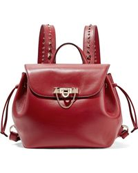 Valentino   Demilune Studded Leather Backpack   Lyst