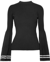 Mother Of Pearl - Corinne Striped Ribbed-knit Sweater - Lyst