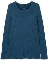 ATM - Distressed Slub Cotton-jersey Top - Lyst