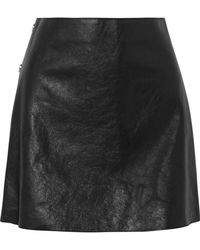 Sonia Rykiel - Textured-leather Mini Skirt - Lyst