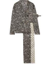 Stella McCartney - Scarlet Snuggling Printed Stretch-silk Pyjama Set - Lyst