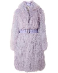 Saks Potts - Belted Shearling Coat - Lyst