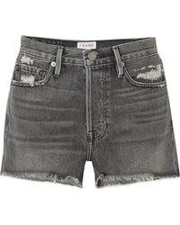 FRAME - Rigid Re-release Le Original Distressed Denim Shorts - Lyst